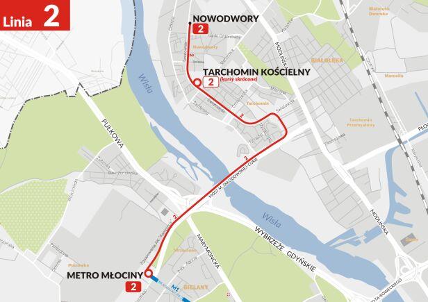 Nowa trasa linii 2 ZTM