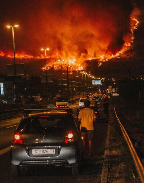 W okolicach Splitu sytuacja była najgorsza (Damira Kalajzic/Facebook)