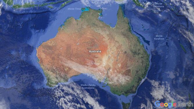 Trzeba zmienić współrzędne Australii, bo się trochę przesunęła