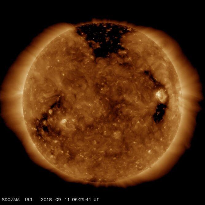 Tak Słońce wygląda 11 września 2018 (NASA/Solar Dynamics Observatory)