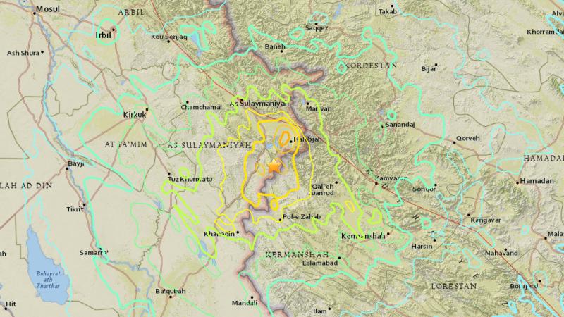 Trzęsienie ziemi w Iraku