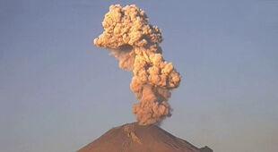 Erupcja wulkanu Popocatepetl