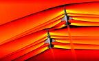 Zdjęcia fal uderzeniowych z dwóch samolotów ponaddźwiękowych