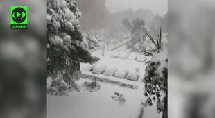 Intensywne opady śniegu w Madrycie